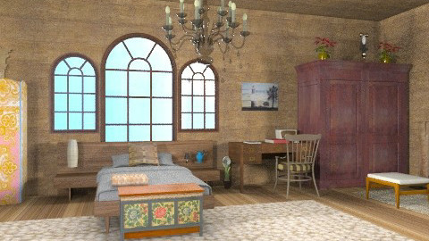 belen2 - Rustic - Bedroom  - by ATELOIV87