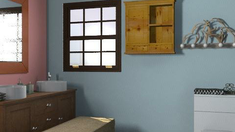 Simple Splash - Rustic - Bathroom  - by Rubeeees