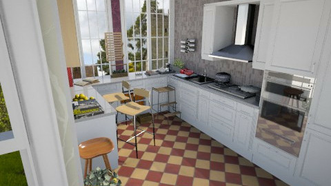 Summer Open Plan5 - Country - Kitchen  - by Suzanne Hoskins