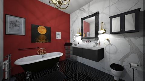 Black and Brass - Bathroom  - by eggaroni