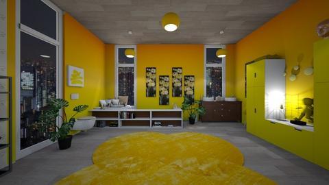 Yellow Bathroom - Feminine - Bathroom - by Yui Soo