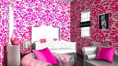 pretty and pink - Vintage - Bedroom  - by sportjunky