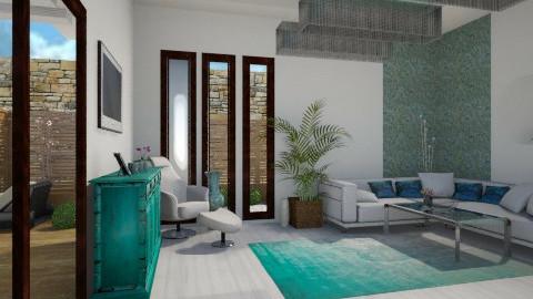 Aqua - Living room - by Gabriella Reeves
