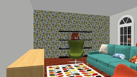 Modern Retro Lounge Room - Retro - Living room  - by rubyhealey