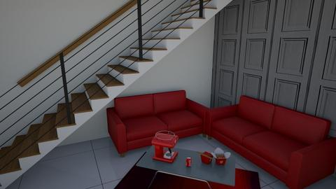 Red Stairway - Living room  - by logz mcw