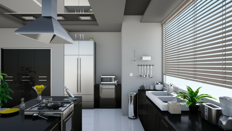 Sleek Modern Kitchen - Modern - Kitchen  - by Sophia Cooper