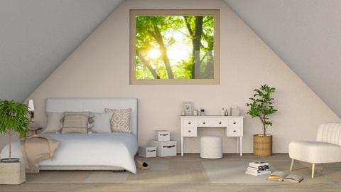 Natural Attic Sleep - Bedroom  - by Oyisha