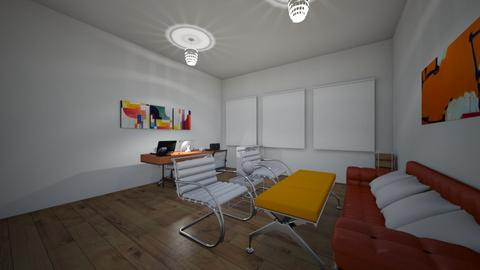 orange office - Eclectic - Office  - by hh104