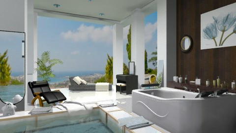 Massage bath tub - Modern - Bathroom  - by milyca8