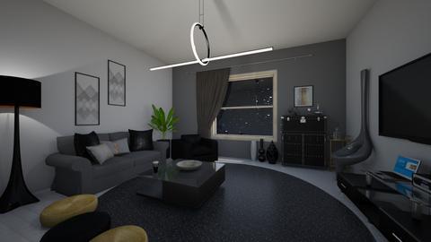 back in black - Living room  - by vasilikif