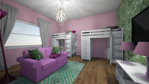 kids bedroom - by katienolan