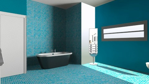 Bathroom blue - Retro - Bathroom  - by Tatjanaa Linsenn