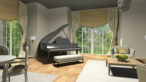 Music room - Classic - Living room  - by Thrud45