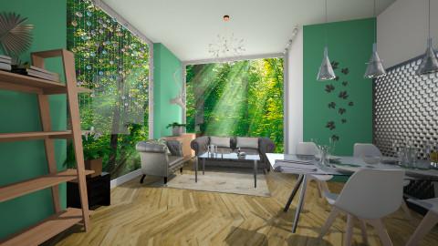 Earth tones2 - Living room  - by Noella Louisy