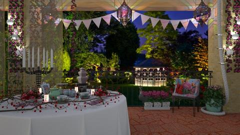 party event - Vintage - Garden  - by donella