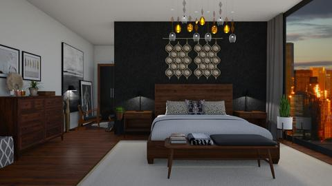 Mid century bedroom - Modern - Bedroom - by martinabb