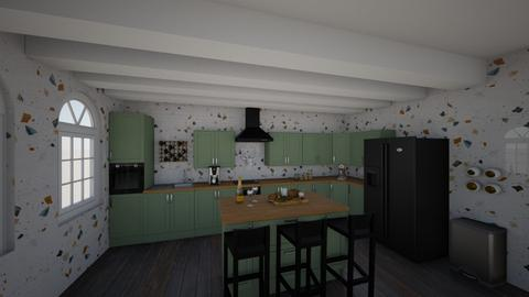 green kitchen  - Kitchen  - by 32103sarah