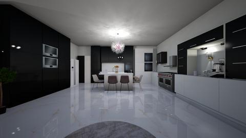 Black and White Kitchen  - Kitchen  - by Shadowfax111