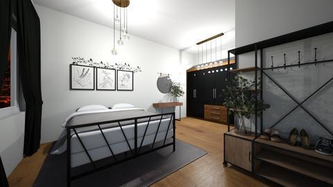 Dark - Bedroom  - by ObsessedDiys