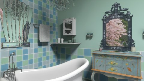 Amanda3 - Eclectic - Bathroom  - by milyca8