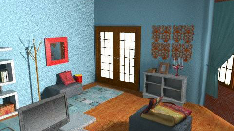 eli - Retro - Living room  - by elianita 89