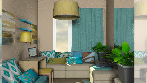 lenabed1 night - Eclectic - Bedroom  - by chania