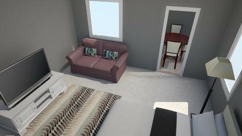 Small Condo Bedroom - Masculine - Bedroom - by Jazmine Wilson