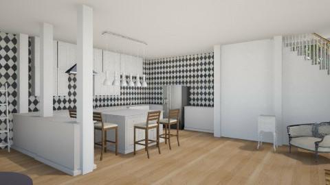 White Kitchen - Rustic - Kitchen  - by mrrhoads23
