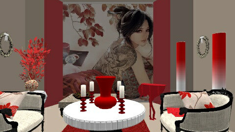 red room - Classic - Living room - by asifgoldpk