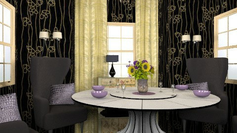 damson dining - Vintage - Dining room - by trees designs