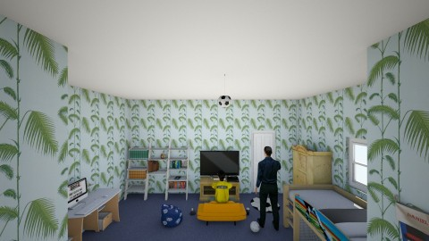 boys bedroom - Vintage - Kids room  - by harry122