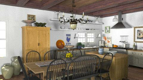 Lakeside Cottage - Kitchen - Rustic - Kitchen  - by LizyD