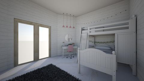 pinkish bedroom  - Kids room - by alomireles