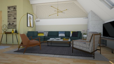 MidCentury Apartment - Retro - Living room  - by katarina_petakovi