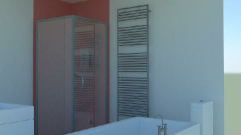 Bathroom without cupboard and shower - Minimal - Bathroom  - by agbr01895