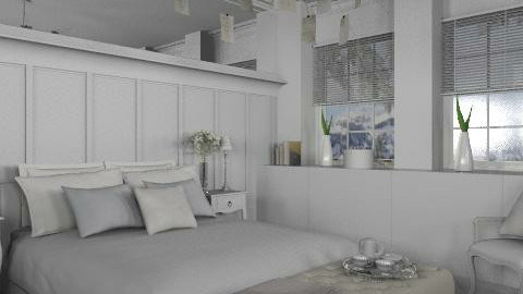 White - Eclectic - Bedroom - by du321