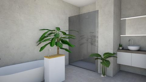 modern bathroom - Modern - Bathroom  - by monaloou