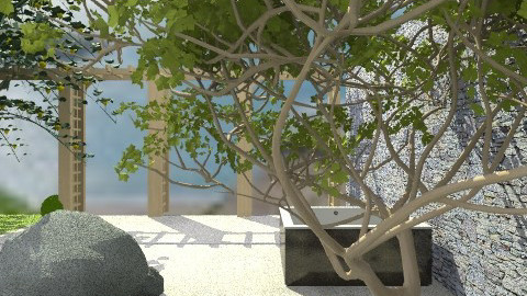 Zen Garden - Minimal - Garden  - by PomBom