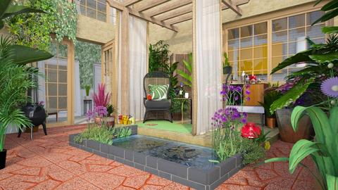 tropical patio - Global - Garden  - by donella