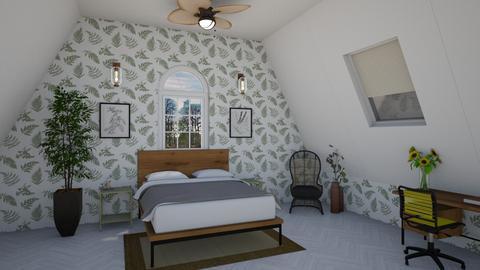 Attic Bedroom - Bedroom  - by LSDESIGNS