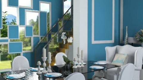 Royal Blue - Classic - Dining room  - by dominicjames