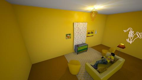 yellow living room - Living room  - by lillyperschnick