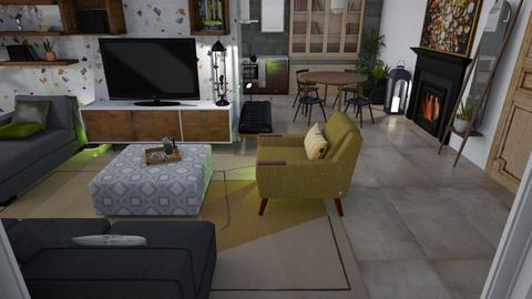 Mr Cs new place - Living room  - by augustmoon