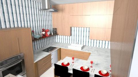 marble kitchen - Classic - Kitchen  - by Chaya L