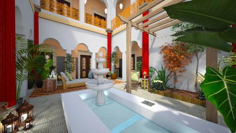 Moroccan courtyard - Global - Garden  - by donella