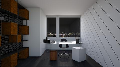 Black and White Office - Modern - Office  - by Asha_Shade