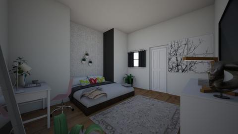 cool bedroom - Modern - Bedroom  - by LaurenDollyhite
