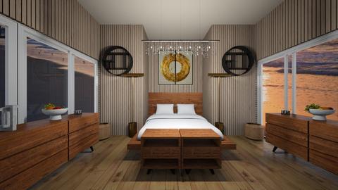 symmetrical hotel bed - by ReadMoreBooks