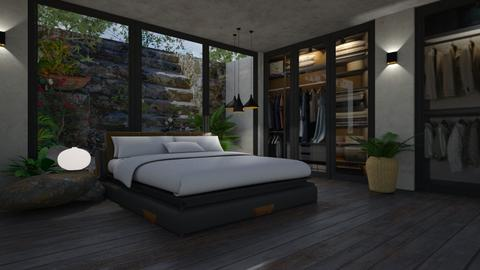 Wood and Stone - Bedroom  - by LuzMa HL