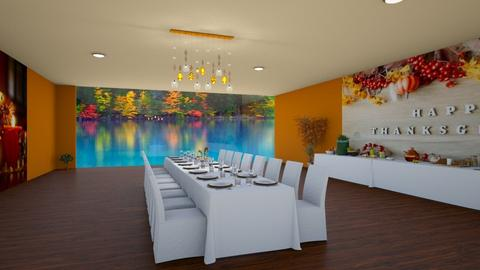Thanksgiving 19 - Modern - Dining room - by fashiondesigner7